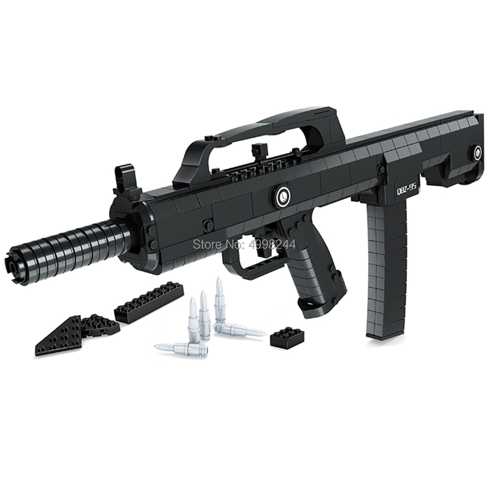 NEW 493Pcs Military 95 Automatic Rifle Gun Weapon Building Blocks Bricks Toy