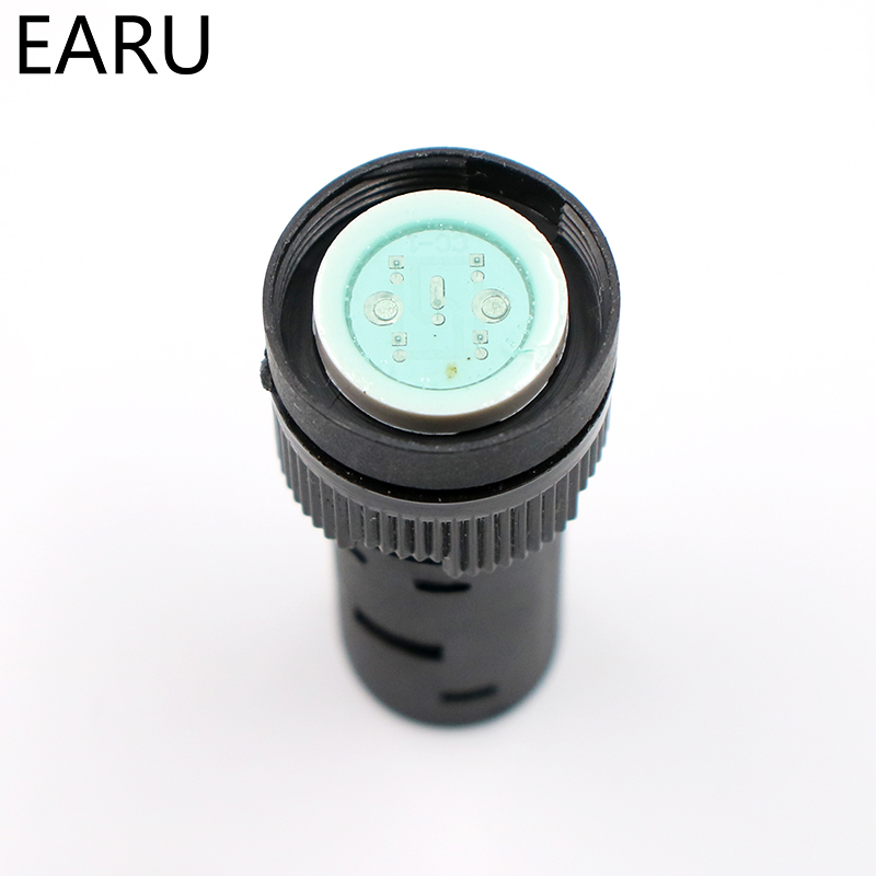 1Pc 16mm 12V LED pilot panel indicator signal warning light lamp AC//DC TK
