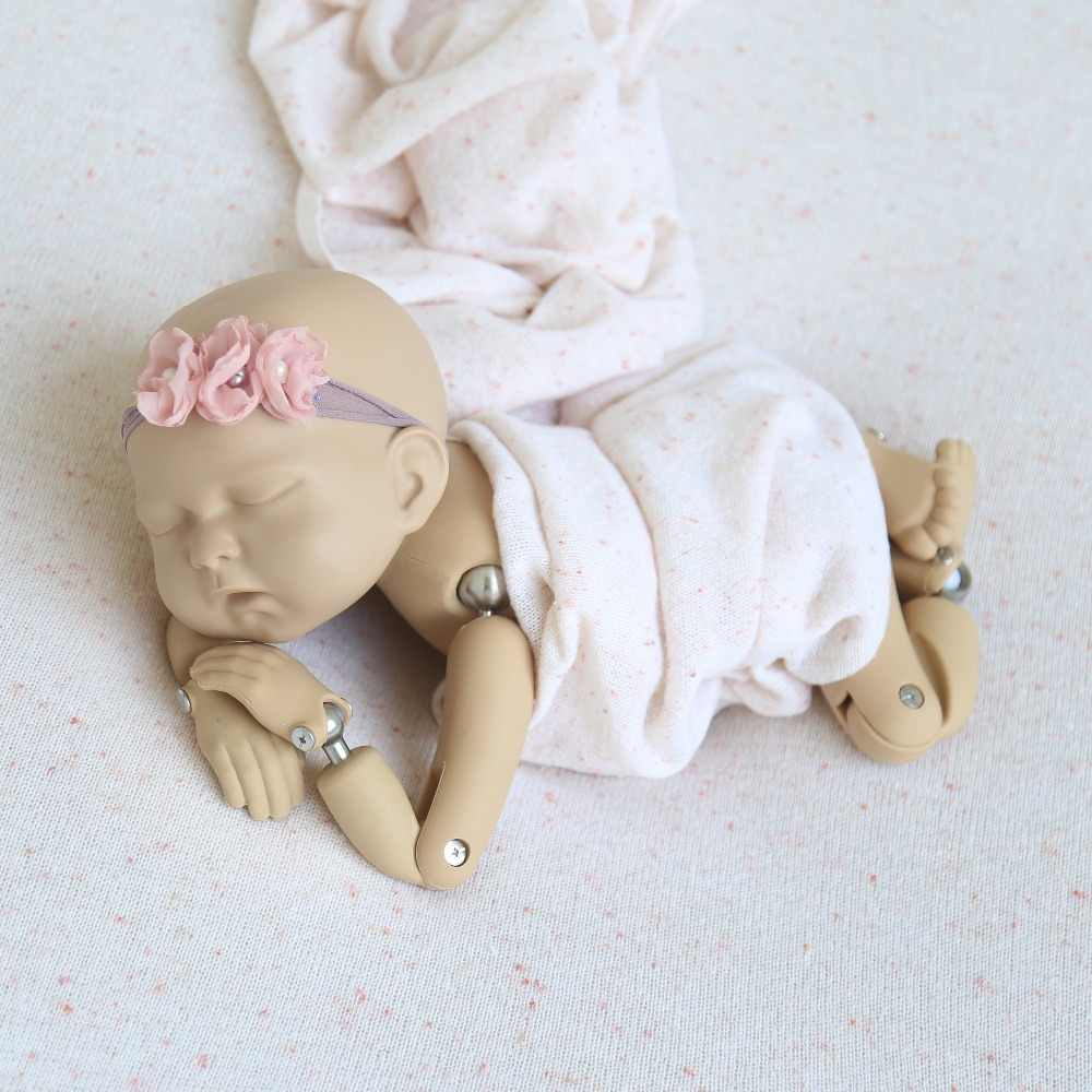 Recém-nascidos Pontos Posando de Tecido Pano de Fundo Trecho Camisola de Malha Bebê Cobertor Cobertura Beanbag Fotografia Adereços