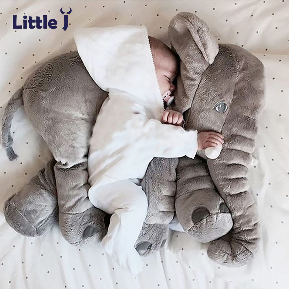 60cm Baby Plush Elephant Kids Sleeping Doll Newborn Soft Stuffed Cushion Birthday Gift Infant Appease Elephant Playmate Calm Toy ...
