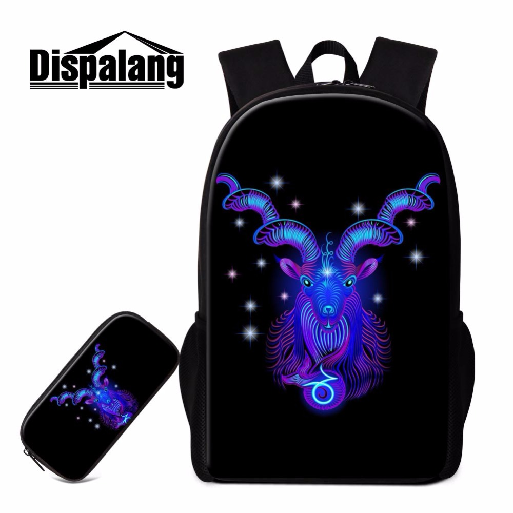 68c05aa05e01 Dispalang 3D constellation 16 inch backpack 2 pcs set zipper pencil bag students  schoolbag boook