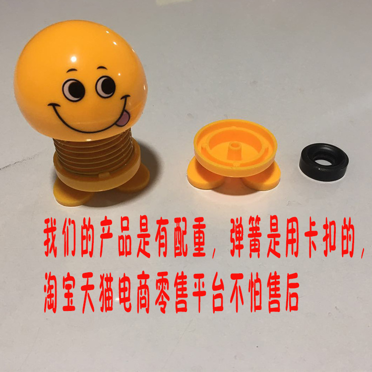 Image 3 - Car Shaking Sound Celebrity Inspired Spring Shook His Head Doll Expression Package Cute Creative Car Ornaments Styling Garnish-in Interior Mouldings from Automobiles & Motorcycles
