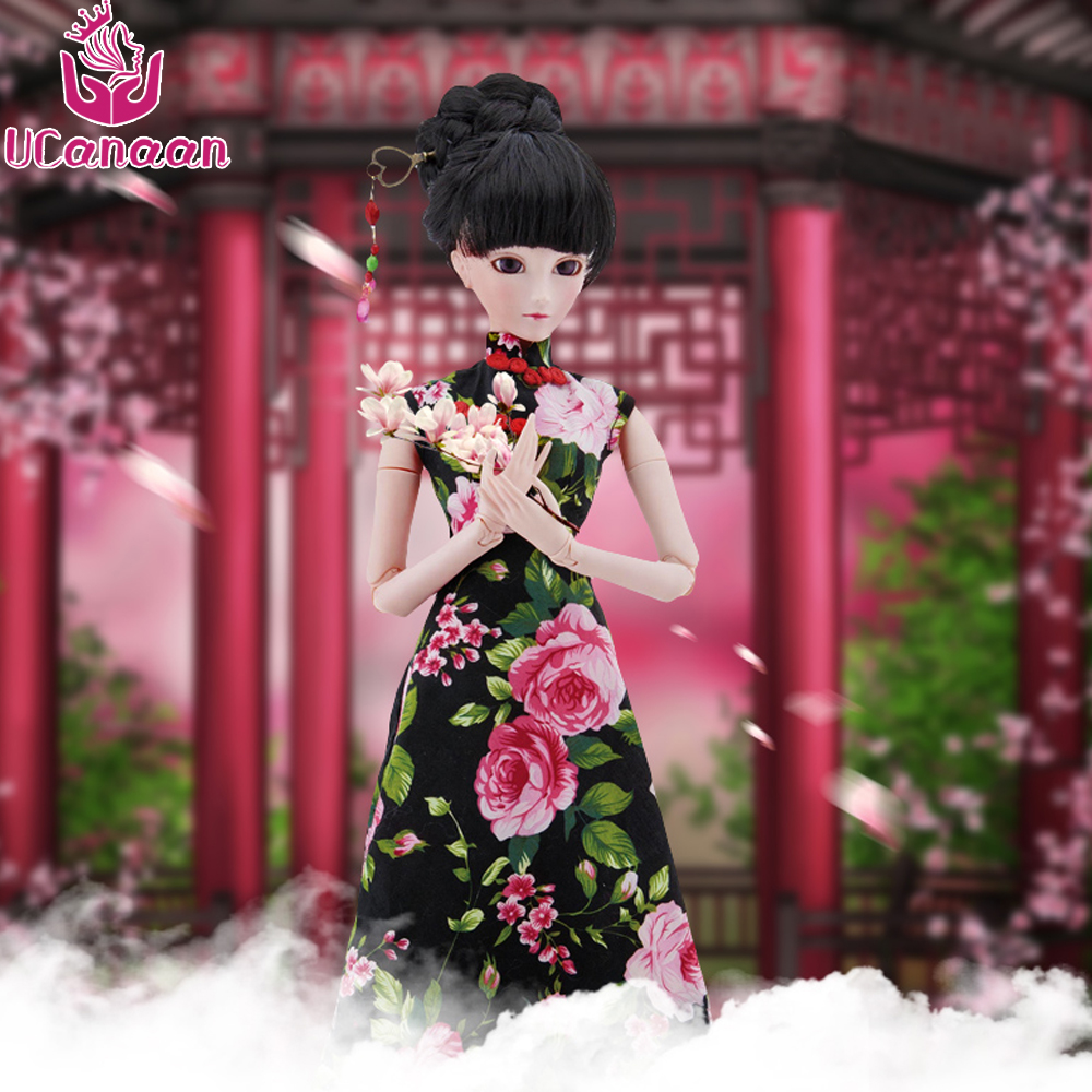 Ucanaan 1/3 BJD/SD Doll Chinese Ancient Style Make Up 19 Joints Can Be Rotated Fantasy Toys For Girls Lolita Doll uncle 1 3 1 4 1 6 doll accessories for bjd sd bjd eyelashes for doll 1 pair tx 03