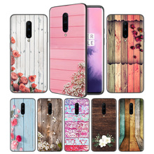 colorful wood and flowers Soft Black Silicone Case Cover for OnePlus 6 6T 7 Pro 5G Ultra-thin TPU Phone Back Protective