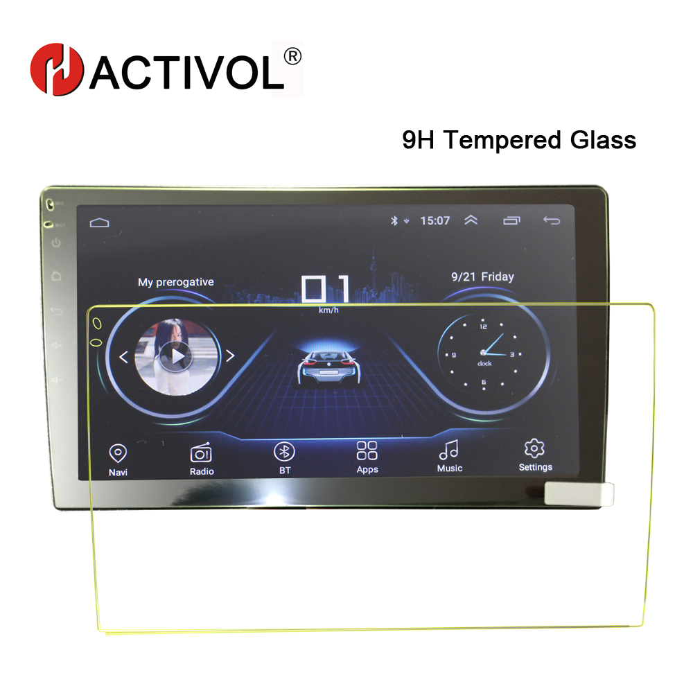 HACTIVOL Car Tempered Glass Protective Film Car Sticker For 9 Inch Radio Stereo DVD GPS Touch Full LCD Screen Car Accessories