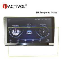 HACTIVOL Car Tempered Glass Protective Film car Sticker for 9 inch Radio stereo DVD GPS touch full LCD screen car accessories car tempered glass screen protective film sticker gps multimedia lcd guard for vw volkswagen 2017 2018 tiguan mk2 accessories