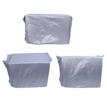 Серебряный пылезащитный чехол из полиэфирного материала для бытовой стиральной машины, Открытый Кондиционер, чистый солнцезащитный водонепроницаемый чехол