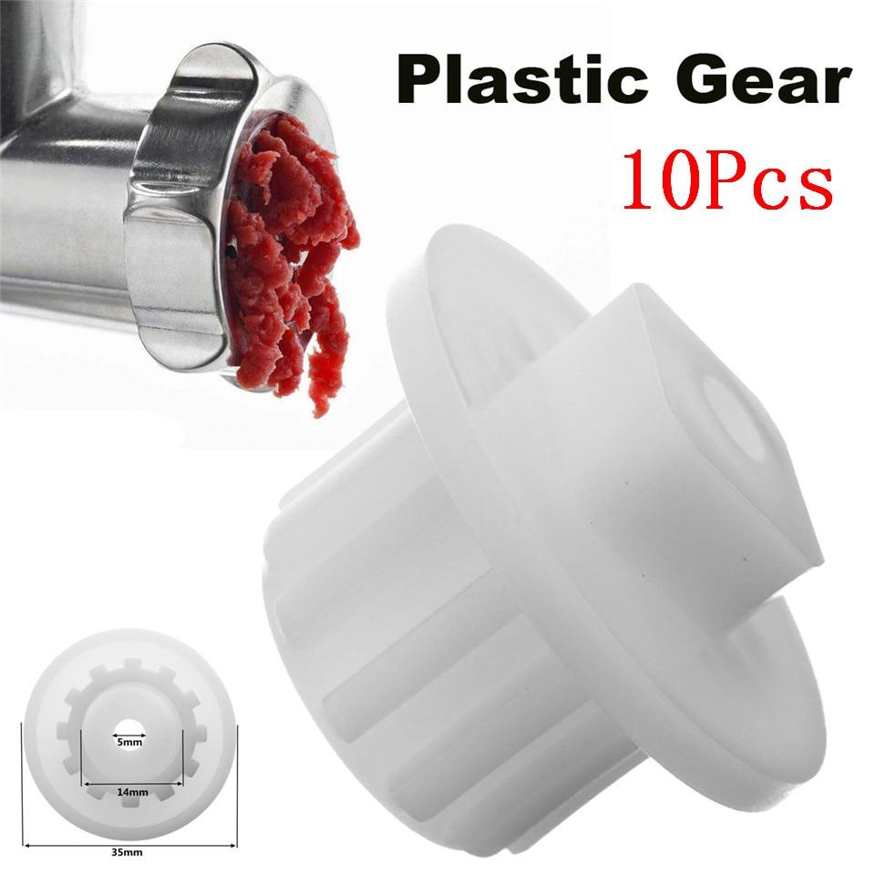 10pcs Meat Grinder Parts Plastic Gear fit for Zelmer A861203, 86.1203, 9999990040,420306564070, 996500043314 Kitchen