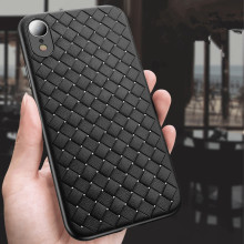 Fashion Breathe Weave Grid Case for IPhone 8 X XS Max Cases 6 6s 7 Plus XR Cover Silicone Accessories