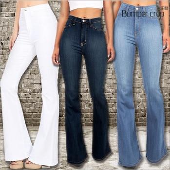 8969acda Pantalones cortos de pierna ancha para mujer xxl azul blanco sexy de la  calle de gran tamaño de las mujeres de la mamá de alta cintura de los  pantalones ...