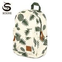 Women Printing Backpack Harajuku Fruit Canvas Backpacks For Teenage Girls School Bag Pineapple Backpack Travel Mochila