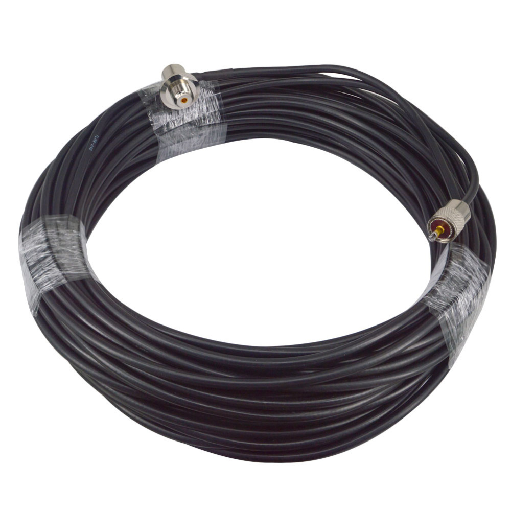 RG8X Coaxial Antenna 30M Cable UHF Male to UHF Female Rightangle Connectors 50 OHM Jumpers Amateur CB Radio Antenna Cable Wire