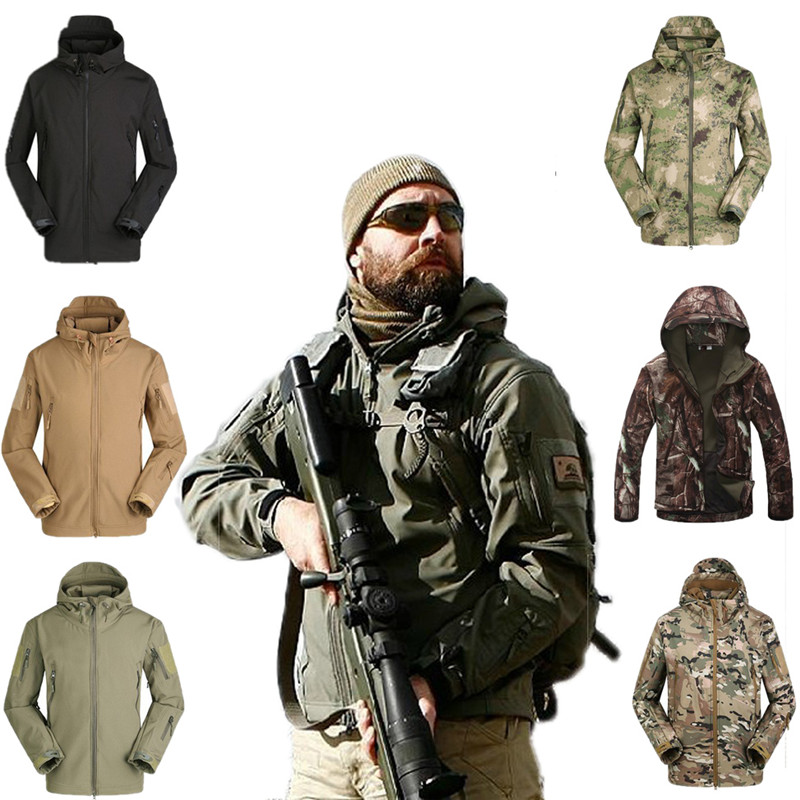 High quality Lurker Shark skin Soft Shell Outdoor Military Tactical Jacket Waterproof Windproof Sports Army ClothingHigh quality Lurker Shark skin Soft Shell Outdoor Military Tactical Jacket Waterproof Windproof Sports Army Clothing