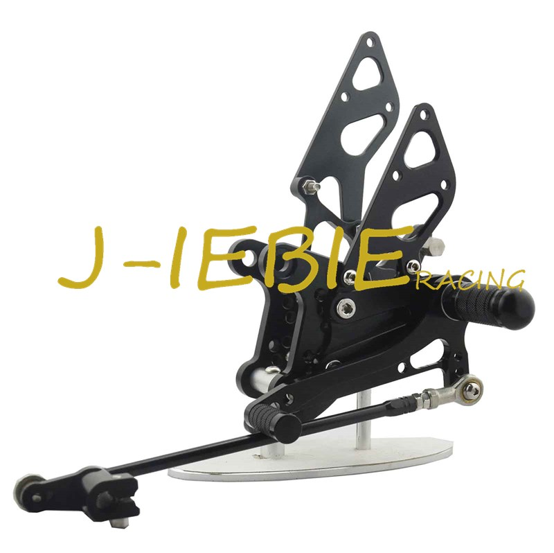 CNC Racing Rearset Adjustable Rear Sets Foot pegs Fit For Honda NSR50 NSF100 ALL YEARS BLACK black cnc racing motorbike footpegs rearset rear set foot rests for honda cb1300 03 13 08 09 10 11 12 d25