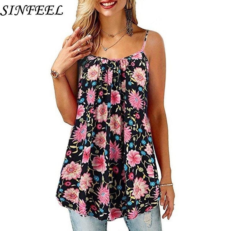 S-5XL Women Sexy Floral Print Loose Short Dress Sleeveless Spaghetti Strap Mini Dresses Womens Club Sundress Vestido Plus Size