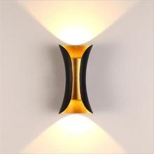 Светодиодный уличный водонепроницаемый COB 10 Вт светодиодный настенный светильник, настенный двойной настенный светильник для отеля, дверной пост, балкон, фото