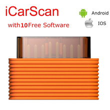 10pcs/lot LAUNCH X431 ICARSCAN Auto Code Reader Scanner With 10 Software Free For Android/ios better than CRP123 CRP129 IDIAG