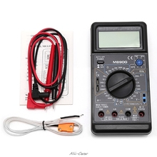 купить M890G Digital Multimeter DMM AC DC Volt Amp ohm Temperature Meter Frequency дешево