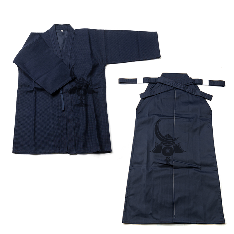 Japanese Kendo Aikido Hakama Suit Top Shirt Hakama Set Cotton Judo Wushu Clothing Kung Fu Uniform