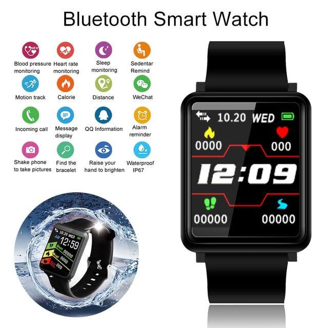 Blood Pressure Smart Watch Activity Tracker Smartwatch Men Fitness Connect Watch
