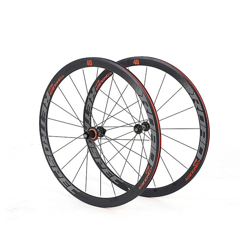 RS2 0 aluminum alloy rim sealed bearing road bike 700C wheelset anti cursor colorful 40mm bicycle