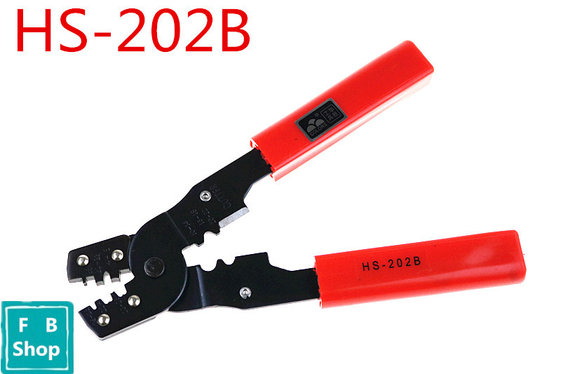 Free shipping HS-202B Multifunctional line pressing clamp the cold press clamp wiring terminal cutters crimping pliers цена