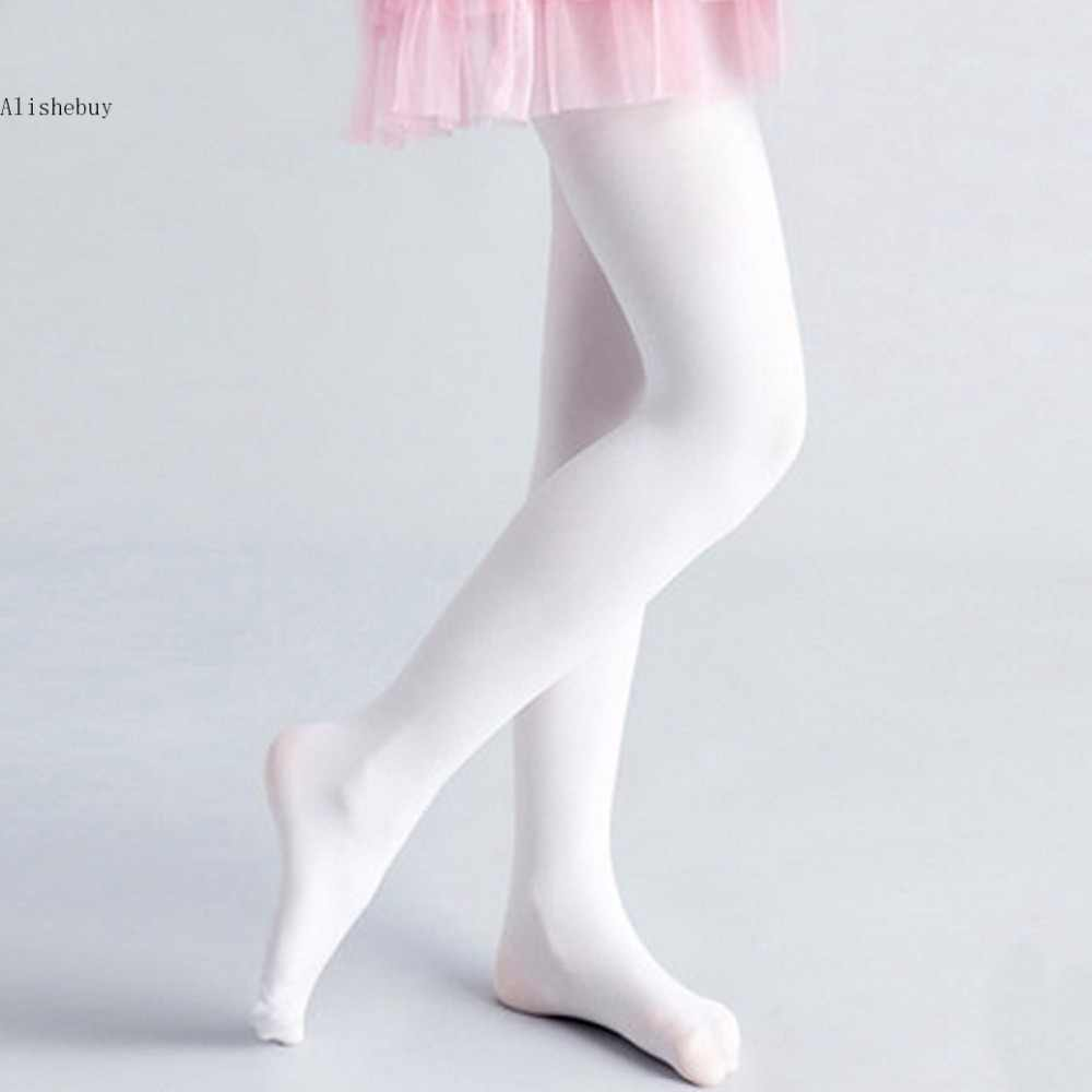52bc264941e1e ... Professional Ballet Tap Dance Tights for Girls Stretch Footed  Gymnastics Pantyhose Princess Soft Stockings Pink White ...