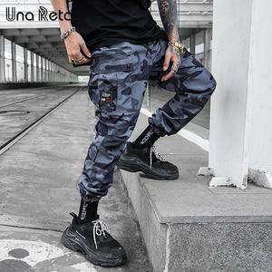 Image 1 - Una Reta Camouflage Mann Hosen Neue Mode Streetwear Joggers Hosen Beiläufige Lange Hosen Männer Hip Hop Elastische Taille Cargo Hosen