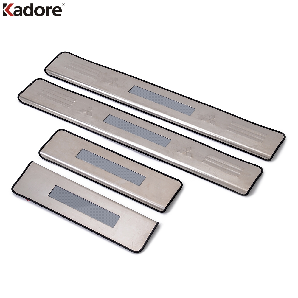 Fit For Mitsubishi ASX 2010 2011 illuminate Door Sill Protector Scuff Plate Thresholds Pad Tread Welcome
