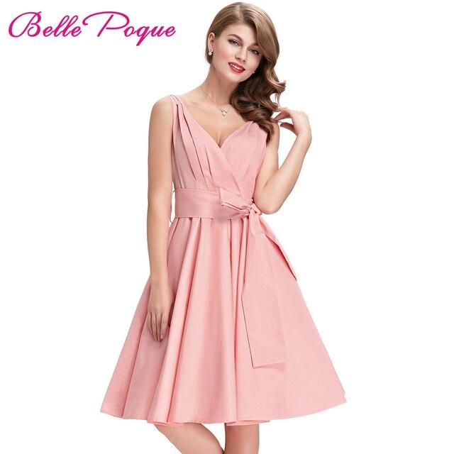 599e6cf37 Rosa preto Túnica Retro Vestidos Das Mulheres Do Vintage 1950 s 60 s Audrey  Hepburn Rockabilly