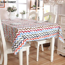 Slow Forest Cotton Tablecloth Thickened Canvas Table Mat Modern Simple Covering Square Block Square Table / Cover Cloth(China)