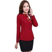 office uniforms work wear professional set fashion slim women skirt suit autumn winter 2016 female formal suits