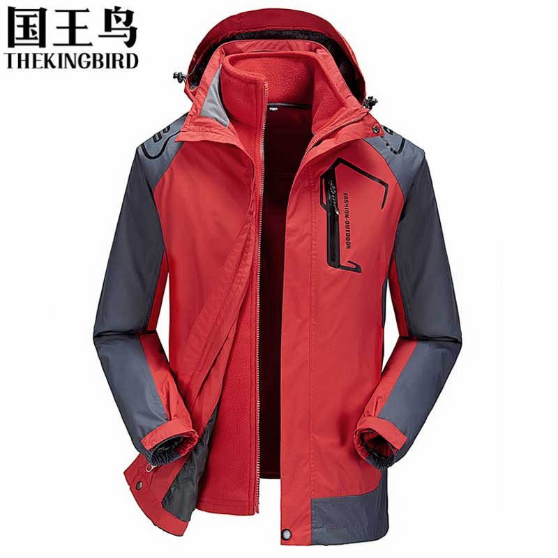 Winter outdoor Jackets men 3 in 1 waterproof Breathable hiking jackets softshell polar fleece tad v 4.0 Mountaineering clothing