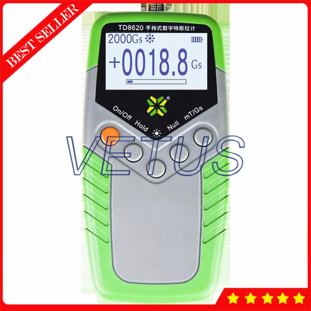 TD8620 Surface Magnetic Field Tester Digital Gaussmeter with Class 1 Accuracy Portable Permanent Magnet Tesla Meter