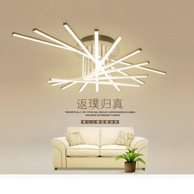 US $400.0 |Acryl deckenleuchte LED moderne deckenleuchten für wohnzimmer  licht für schlafzimmer leuchten fernbedienung AC 110 V 260 V schwarz/whit  in ...