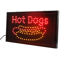 CHENXI Hot Dogs Open Led Sign Board 1910 Inch Ultra Bright Running Led Hot Dogs Food Store Business Advertising Lights.