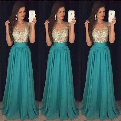 New Long Formal Prom Party Dress Bridesmaid Maxi Sequin Dresses Ball Gown 2019 V Neck Elegant Bodycon Party Dresses in Dresses from Women 39 s Clothing