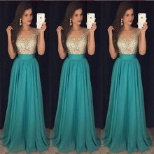 New Long Formal Prom Party Dress Bridesmaid Maxi Sequin Dresses Ball Gown 2019 V-Neck Elegant Bodycon
