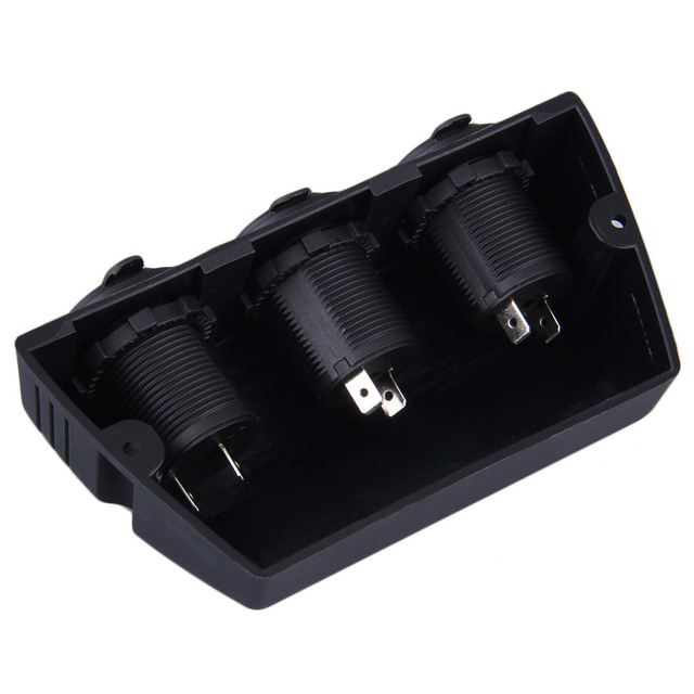 2018 New 3 in 1 Black Car Cigarette Lighter Socket Splitter 12V Charger Power Adapter Hot Sale