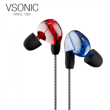 VSONIC VSD2 VSD2S Professional Noise isolation HIFI Inner Ear Earphone