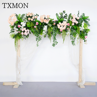 Wedding props Mori flower row high end wedding simulation flower ceremony pavilion floral decoration wedding scene layout