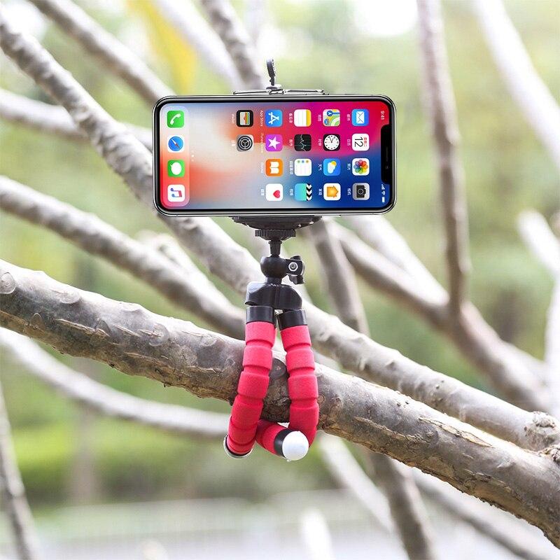 Штатив-держатель для телефона, универсальная подставка для телефона, гибкий губчатый мини-штатив с Bluetooth дистанционным затвором для камеры iPhone
