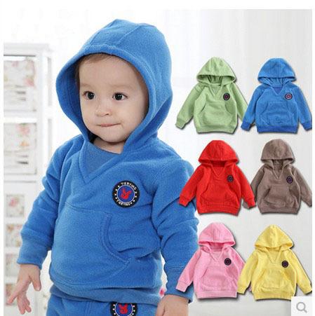 Nuevos niños otoño primavera con capucha de manga larga, los bebés de la, los niños suéter, niño del bebé de lana chaqueta prendas de vestir exteriores