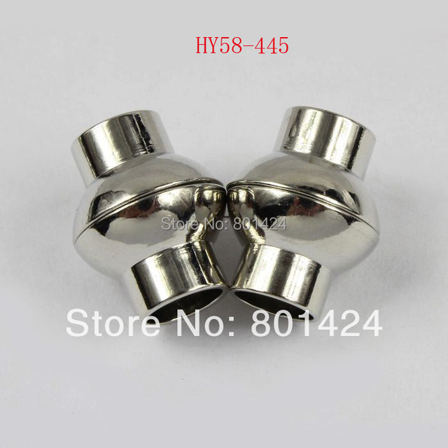 free shipping 7pcs 58-445 brass leather drum - shaped 15x12mm magnetic clasp hooks for leather bracelet