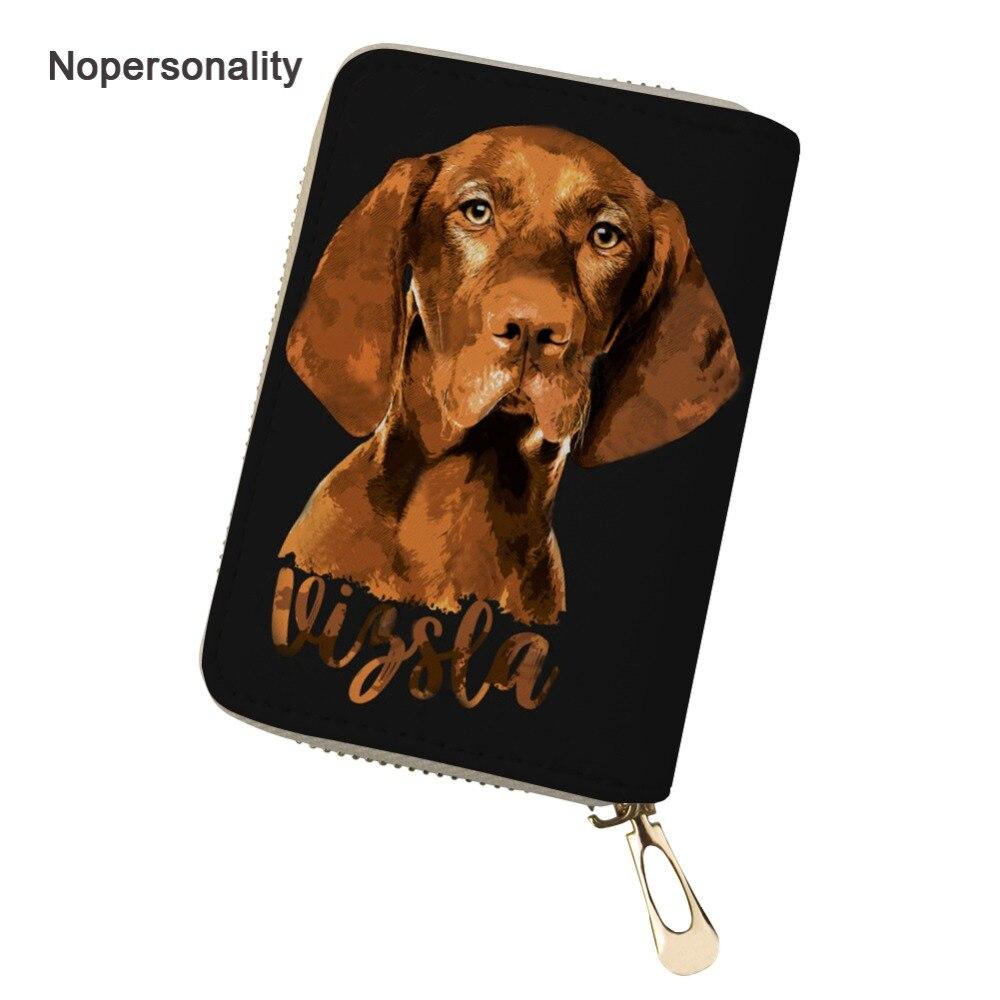 Vizsla Dog Black Metal Business Card Holder