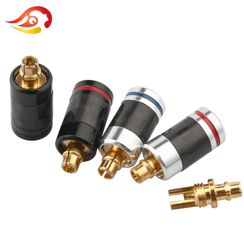 QYFANG Earphone Pin Plug For SE535 SE215 SE846 ED5 Carbon Fiber MMCX Gold-Plated Audio Jack Solder Wire Connector Splice Adapter