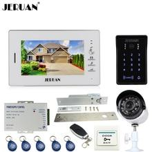"JERUAN 7"" Video Door Phone Intercom System kit Password keyboard Access Camera + 700TVL Analog Camera+Electric Drop Bolt Lock"
