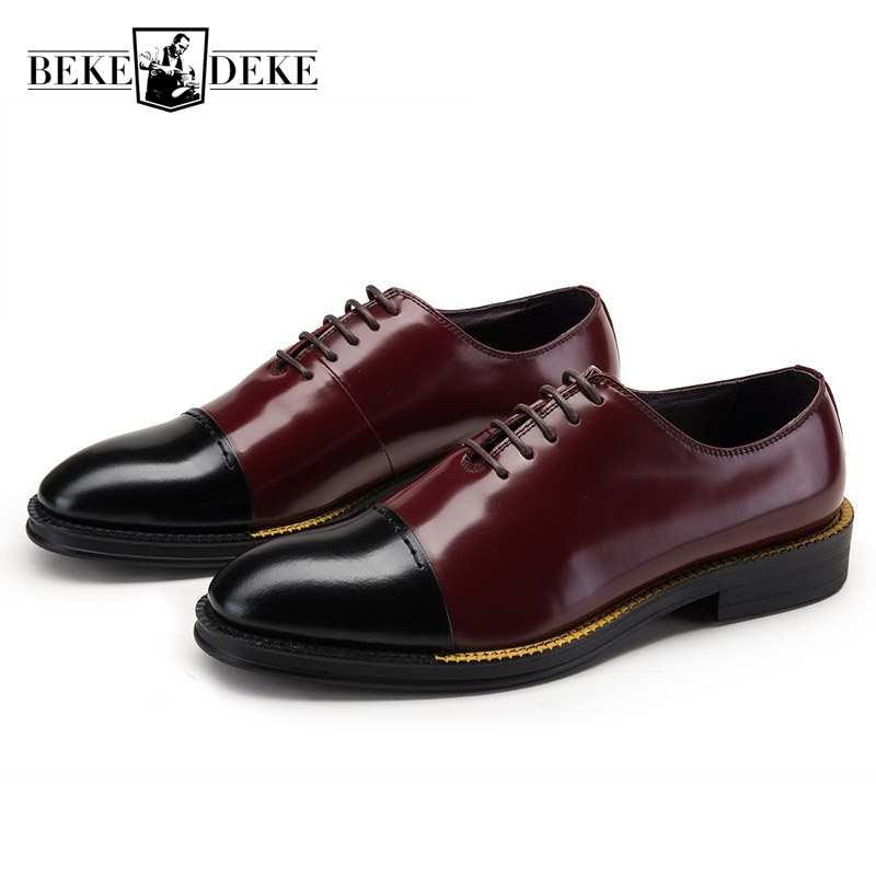 European Match Color Formal Shoes Man Round Toe Winter Business Shoes Dress Shoes Male Lace Up Thick Bottom Plus Size Black hot sale mens genuine leather cow lace up male formal shoes dress shoes pointed toe footwear multi color plus size 37 44 yellow