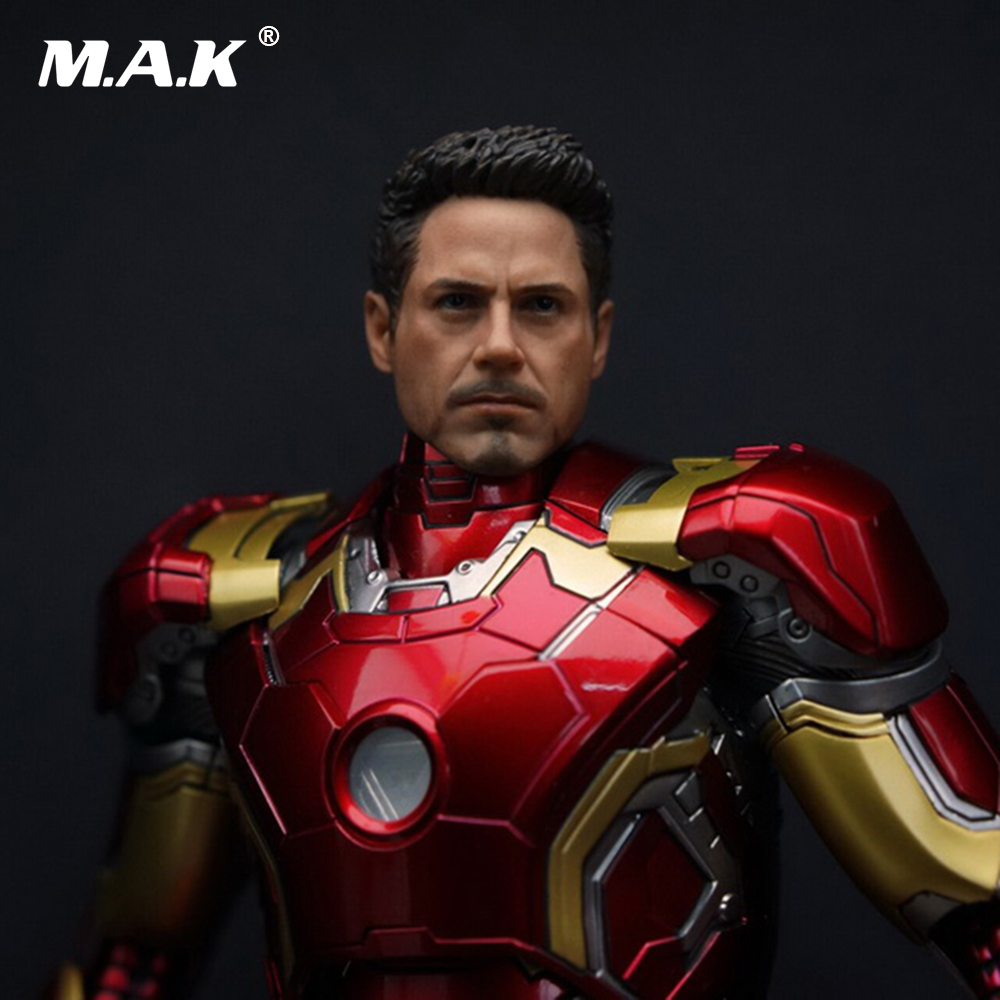1/9 Male Head sculpt Wounded Ver 1:9 Collection Iron Man Tony Head Model Carving F KingArts MK42 MK43 wounded city