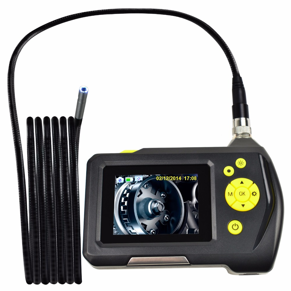 8.2mm Digital Waterproof Endoscope Handheld Digital Inspection Camera System with 3 Meter Cable and 2.7 inch Screen Monitor